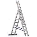 Алюминиевая трехсекционная лестница ALUMET 5307 купить, фото