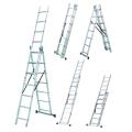 Универсальная лестница WERK LZ3207B 3x7 купить, фото