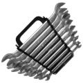 Набор ключей рожковых полированных БРИГАДИР CR-V, 12 шт купить, фото