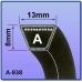 Ремень виброплиты клиновой тип A (13х8), Ремень виброплиты клиновой тип A (13х8), Ремень виброплиты клиновой тип A (13х8) фото, продажа в Украине