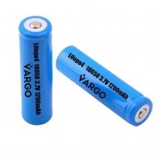Аккумулятор 18650 Li-FePO4 VARGO 3,2V 1200mAh (111884), VARGO 3,2V 1200mAh (111884), Аккумулятор 18650 Li-FePO4 VARGO 3,2V 1200mAh (111884) фото, продажа в Украине