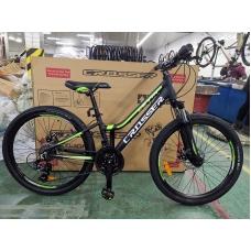 """Подростковый велосипед CROSSER levin 24"""" горный Shimano черно-зеленый, CROSSER levin 24"""" горный Shimano черно-зеленый, Подростковый велосипед CROSSER levin 24"""" горный Shimano черно-зеленый фото, продажа в Украине"""