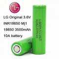 LG INR18650MJ1 (Акумулятор 18650 Li-Ion LG INR18650MJ1 (LG MJ1), 3500mAh, 10A, 4.2 / 3.65 / 2.5V, зелені)