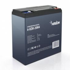 Тяговая аккумуляторная батарея MERLION 6-DZM-20, 12V 20Ah M5 (181х77х167), MERLION 6-DZM-20, Тяговая аккумуляторная батарея MERLION 6-DZM-20, 12V 20Ah M5 (181х77х167) фото, продажа в Украине