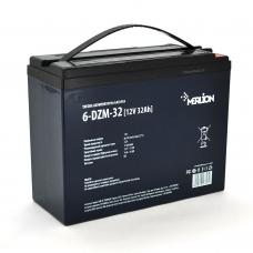 Тяговая аккумуляторная батарея MERLION 6-DZM-32, 12V 32Ah M5 (222*93*174), MERLION 6-DZM-32, Тяговая аккумуляторная батарея MERLION 6-DZM-32, 12V 32Ah M5 (222*93*174) фото, продажа в Украине
